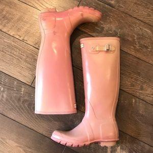Original Tall Pink Hunter Boots